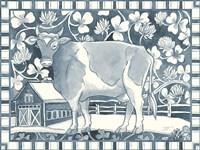 Farm Life II Stripe Border Fine-Art Print