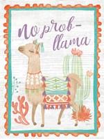 Lovely Llamas IV No Probllama Fine-Art Print