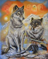Peace Wolves Fine-Art Print