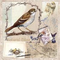 Natural Bliss Birds -Tan Fine-Art Print