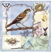 Natural Bliss Birds-Blue Fine-Art Print