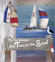 Toes In The Sand  Plaque 1 Fine-Art Print