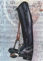 Riding Boot Words Fine-Art Print