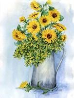 Sunflowers Watercolor Sketch Fine-Art Print