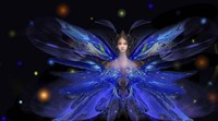 Butterfly Blue Princess Fine-Art Print