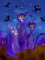 Night Cats 3 Fine-Art Print