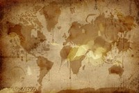 Vintage World Map Fine-Art Print