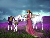 The Princess And Unicorns Fine-Art Print