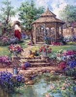 Red Garden Gate Fine-Art Print