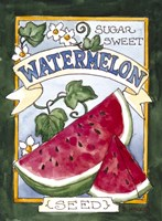 Large Watermelon-Seed Packet Fine-Art Print