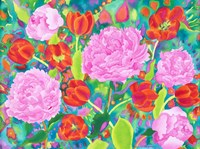 Peories And Tulips Fine-Art Print