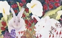 Bunnies with Callas Fine-Art Print