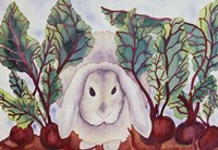 Bunny with Beets Fine-Art Print