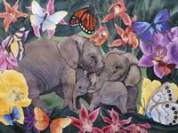 Elephants and Butterflies Fine-Art Print