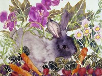 Rabbit with Carrots Fine-Art Print