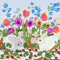 Rabbits And Carrot Fine-Art Print