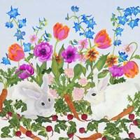 Rabbits And Carrot Fine-Art Print