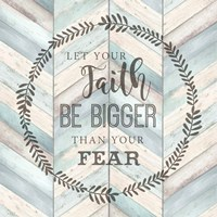 Let Your Faith Chevron Fine-Art Print