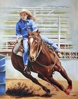 Barrel Racing Fine-Art Print
