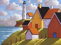 Lighthouse Cottage Hillside View Fine-Art Print