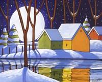 Reflection Winter Night Fine-Art Print