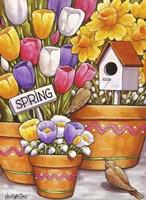 Spring Birds Flowers Fine-Art Print