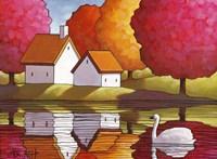 Swan Waters Reflection Fine-Art Print