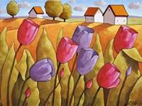 Tulips Landscape Yellow Fine-Art Print