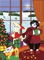 Christmas Cats Theme Christmas Decorations V2 Fine-Art Print