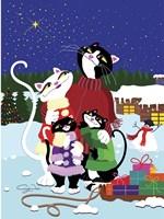 Christmas Cats Theme Christmas Star V2 Fine-Art Print