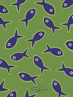 Lime With Purple Fish Fine-Art Print