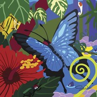 Tropical Blue Butterfly V3 Fine-Art Print