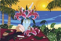 Tropical Bouquet With Sea Shells Fine-Art Print