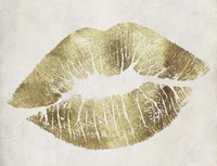 Hollywood Kiss Gold Fine-Art Print