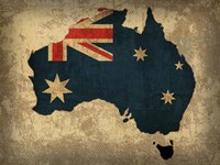 Australia Country Flag Map Fine-Art Print
