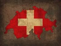 Switzerland Country Flag Map Fine-Art Print