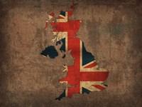 United Kingdom Country Flag Map Fine-Art Print