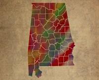AL Colorful Counties Fine-Art Print