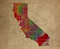 CA Colorful Counties Fine-Art Print