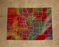 CO Colorful Counties Fine-Art Print