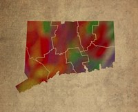CT Colorful Counties Fine-Art Print