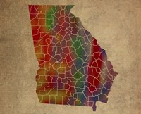 GA Colorful Counties Fine-Art Print