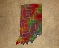 IN Colorful Counties Fine-Art Print