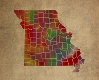 MO Colorful Counties Fine-Art Print
