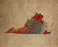 VA Colorful Counties Fine-Art Print