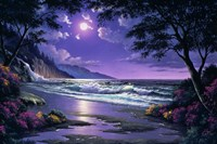 Beach at Night Fine-Art Print
