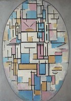 Composition in Oval with Color Planes I, 1914 Fine-Art Print