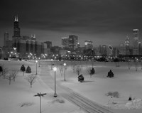 Snowy Chicago Skyline Fine-Art Print
