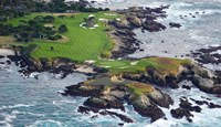Golf Course on an Island, Pebble Beach Golf Links, California Fine-Art Print