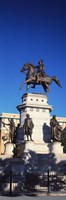 Low Angle View of an Equestrian Statue, Richmond, Virginia Fine-Art Print